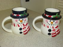 Two Snowman Candles Mugs in Fort Belvoir, Virginia