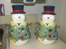 Country Snowman Candle Holders in Fort Belvoir, Virginia
