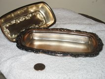 Silver plated butter dish/cover in Joliet, Illinois