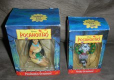 Disney Pocahontas & Meeko Disney Grolier Ornament Lot Princess in Houston, Texas