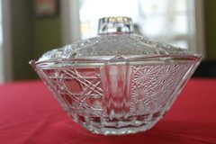 Vintage EAPG Candy Dish with Lid in Warner Robins, Georgia