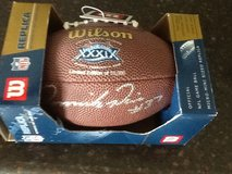 Dominick Davis autograhed mini football in Kingwood, Texas