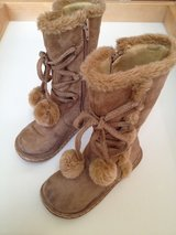 (not walked on) Size 10 Toddler Tan High Boots in Joliet, Illinois