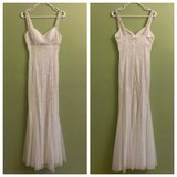 White Formal Homecoming/Prom/Wedding Dress Gown SIZE SMALL in Leesville, Louisiana