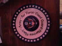Armed forces Polish pottery plate in Fort Rucker, Alabama