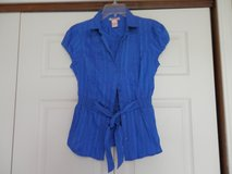 Electric Blue Shirt with Belt in Fort Riley, Kansas