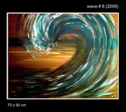 Large Wave Painting Original in Ramstein, Germany