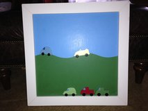 Pottery Barn Kids Magnetic Chalkboard Wood Framed w/ Car Magnets in Bolingbrook, Illinois