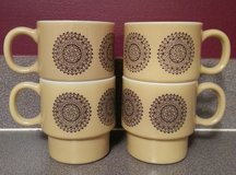 Retro 1960's stackable mugs in Joliet, Illinois