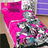Monster high fleece blanket new in Westmont, Illinois