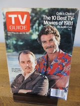 TV Guide Magnum P.I January 1982 in Sandwich, Illinois