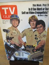 Reduced~TV Guide Cast of Chip's~Jan 1982 in Sandwich, Illinois