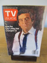 Reduced~TV Guide Dan Rather~May 1981 in Batavia, Illinois