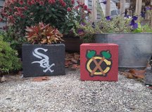Cinder Block Planters in Yorkville, Illinois