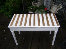 stripe bench in Plainfield, Illinois