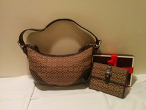 Coach Mini Hobo Purse + Wallet in Glendale Heights, Illinois