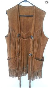 Genuine 60's Buckskin Long fringe vest in Fort Leonard Wood, Missouri