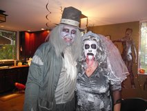Halloween costume Zombie Groom And zombie bride Costume's Come's with wig's and veil in Algonquin, Illinois
