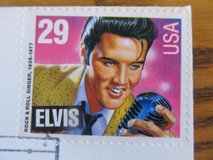 Elvis Fox Valley Philatelic Station Grand Opening~Stamp & Signed Envelope in Sandwich, Illinois
