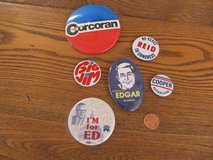 Reduced Again~Illinois State Political Pins~Vintage in Yorkville, Illinois