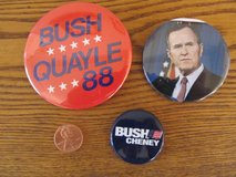 Reduced~Bush Political Pins~Vintage~Reduced in Sandwich, Illinois