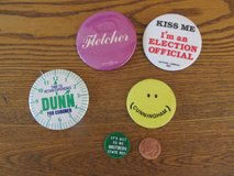 Election Pins~Kendall County~Vintage in Sandwich, Illinois