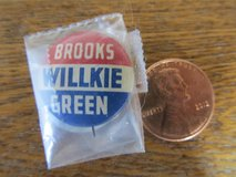 Reduced~Election GOP IL Coattail Pin ~1940~Reduced in Yorkville, Illinois