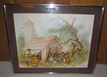 Print of a Barn in Naperville, Illinois