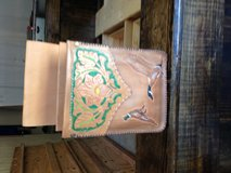 Leather shoot bag in Fort Polk, Louisiana