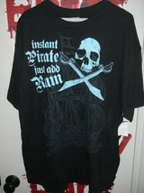 NEW Adult Instant Pirate Costume T-shirt XL Just Add Rum Mens Womens in Kingwood, Texas