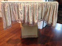 "3 Custom Window Treatment Valences - Pink Floral 46"" Wide in Plainfield, Illinois"