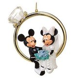 Disney Mickey & Minnie Wedding Ring Ornament in Yorkville, Illinois