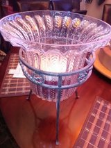 Pier 1 Iron Glass Large Candle Stand in Fort Campbell, Kentucky