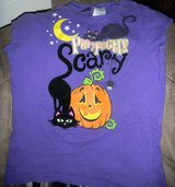 Girls XL 14/16 Halloween Purrfectly Scary T-Shirt Black Kitty Cat in Kingwood, Texas