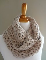 Crochet Infinity Scarf in Fort Lewis, Washington