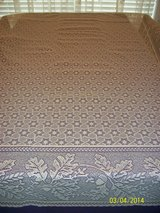 new ecru/khaki 70x90 lace acorn & leave tablecloths in Goldsboro, North Carolina