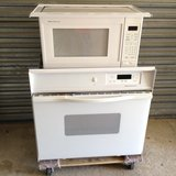 30 inch wall oven with microwave and trim kit in Houston, Texas