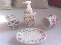 4 pc. Ceramics Bathroom Set, new never used in Ramstein, Germany