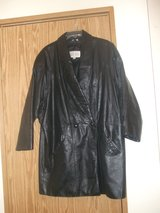 Pelle Studio Black Leather Coat in Fort Lewis, Washington