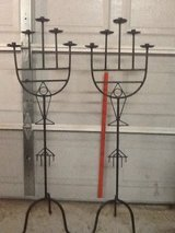 Ornate antique wrought iron candelabras in Beaufort, South Carolina