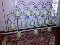 Gold Iron Fireplace Candle Stand in Fort Campbell, Kentucky