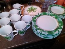 Palm Tree 32 Piece Dish Set in Fort Campbell, Kentucky