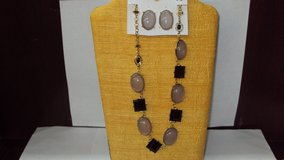 Black & Gray Necklace and Earrings Set in Houston, Texas