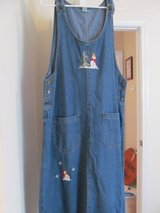 Size XL Winter embroidered jean dress in Fort Benning, Georgia