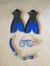 U.S. Divers Snorkel Set swim mask fins in Kingwood, Texas