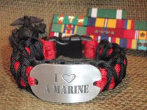 """I (Heart) a Marine"" Dog Tag Paracord Bracelets in Quantico, Virginia"