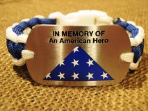 """In Memory of an American Hero"" Dog Tag Paracord Bracelet in Quantico, Virginia"