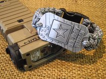 """U.S. Army Veteran"" Dog Tag Paracord (550 Cord) Bracelets in Quantico, Virginia"