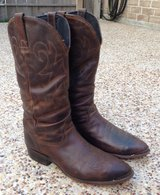 DURANGO CRUMPLED DISTRISSED LEATHER BOOTS 10 B in Kingwood, Texas