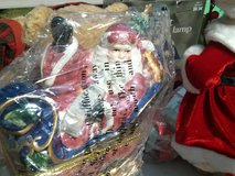 christmas decor santa in sled new in Fort Leonard Wood, Missouri